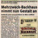 Mehrzweckbackhaus - Schaumburger Wochenblatt vom 17.12.2008