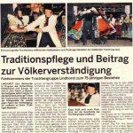 75 Jahre Trachtenverein Lindhorst - Schaumburger Wochenblatt vom 06.07.2011