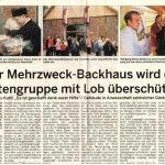 Mehrzweckbackhaus - Schaumburger Wochenblatt vom 14.09.2011